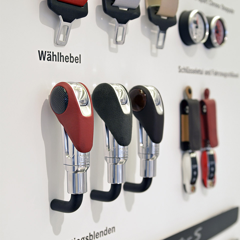 Porsche Retaildesign Detail Materialien