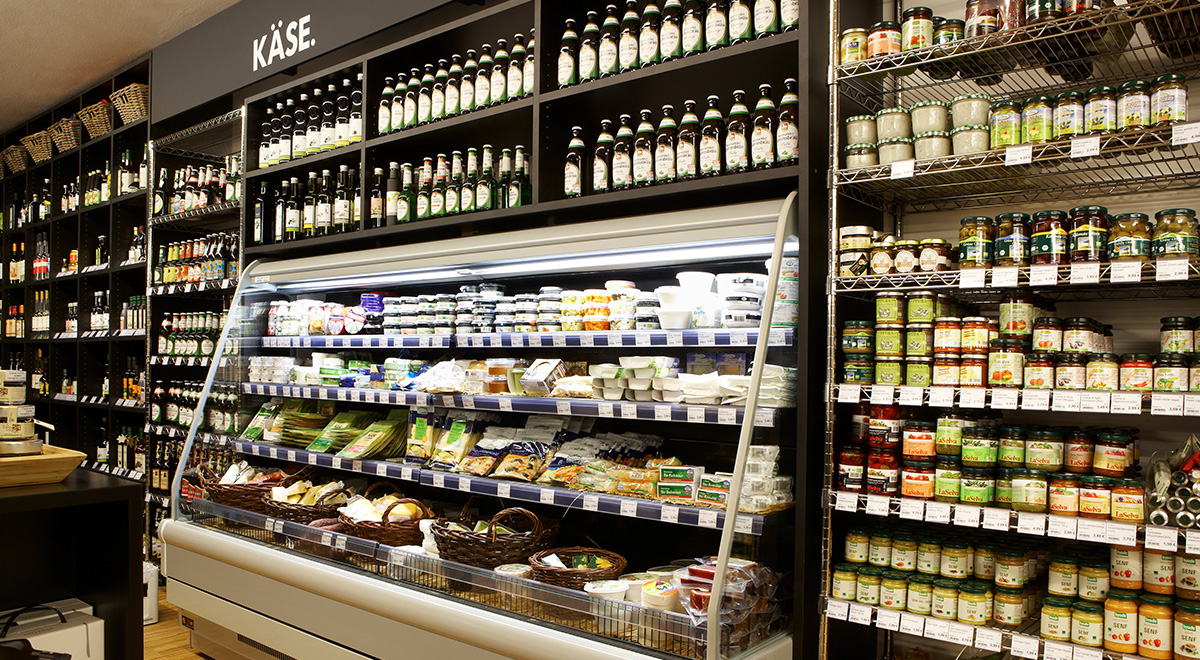 Vierjahreszeiten Biomarkt Kühltheke