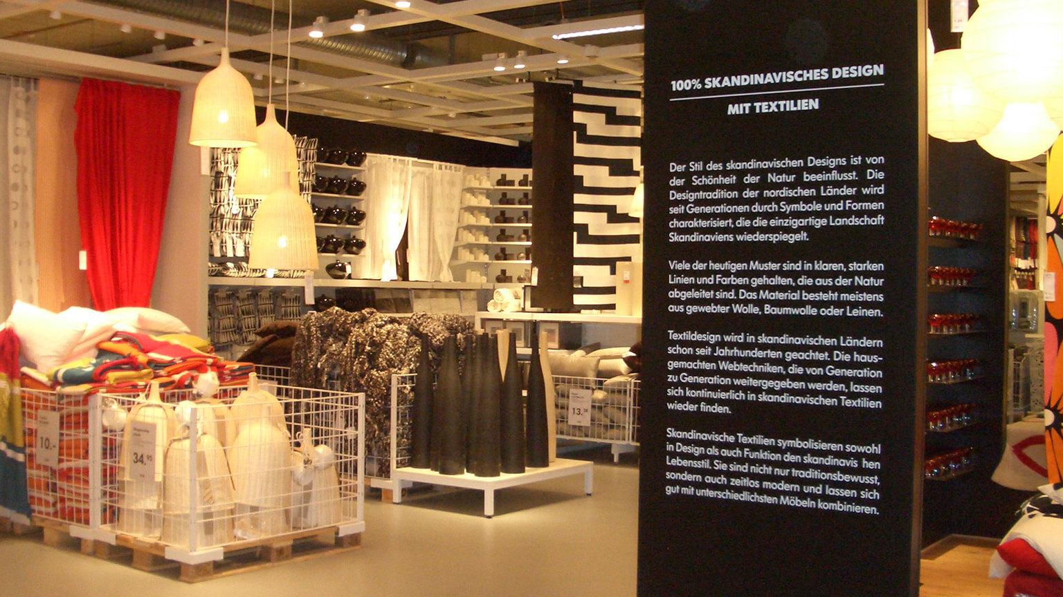 Ikea Retail Deisign Konzept Übersicht Textilien