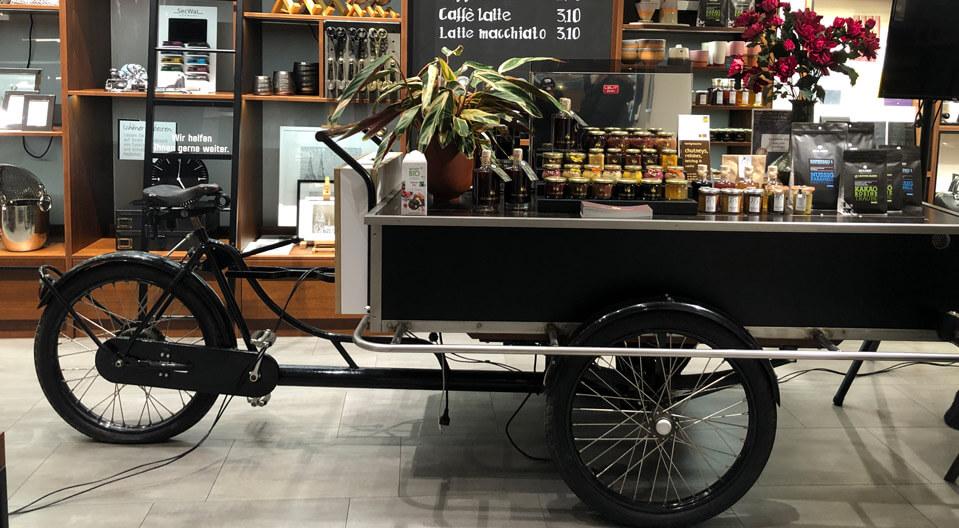 Ortloff Köln Retail Design Konzept Bike