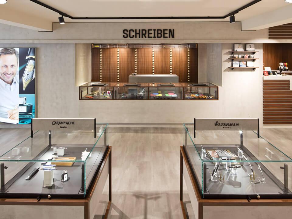 Ortloff Köln Retail Design Konzept Schreibwaren